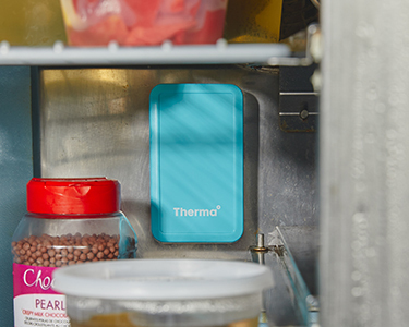 Therma temperature and humidity sensor in a lowboy fridge