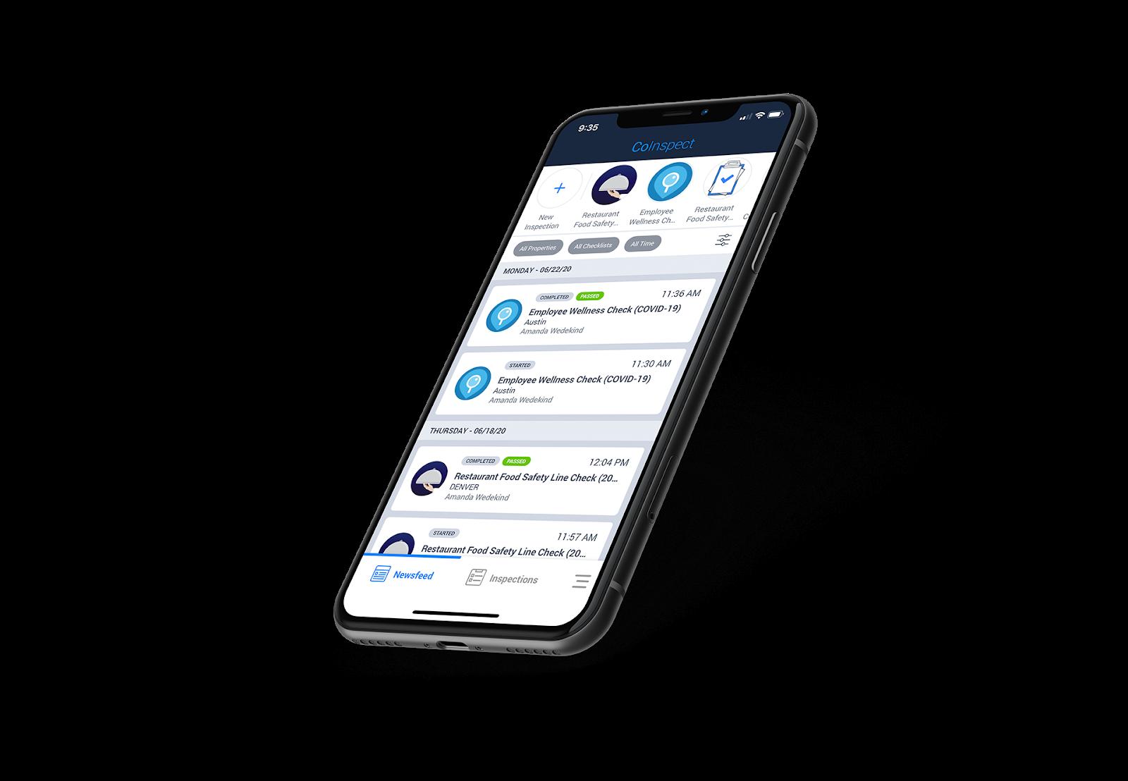 Therma Digital Checklist App home screen