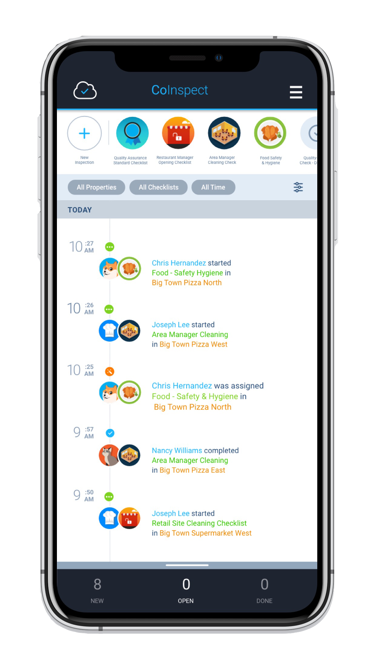 Therma Digital Checklist App - Newsfeed