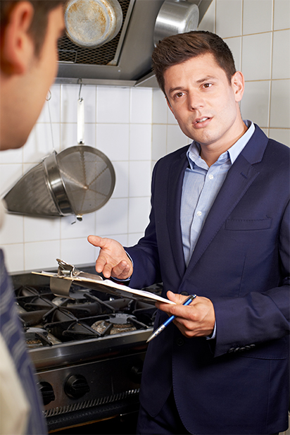 What should be done following health violations from an inspection?